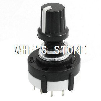 все цены на 3P4T 3 Pole 4 Position Single Wafer Band Selector Rotary Switch w Knob