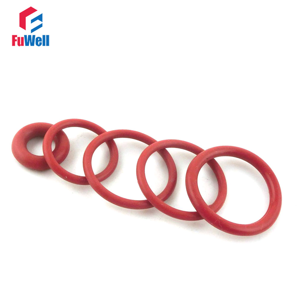 20Pcs 14mm x 1mm Rubber O-Rings NBR Heat Resistant Seal Ring Eyelets Red