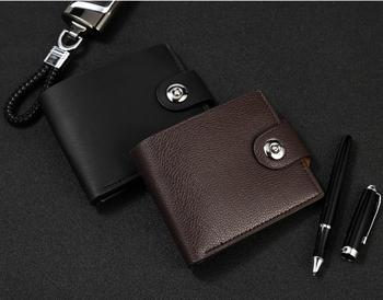 PU Leather Male Wallets Purse Gift High Quality