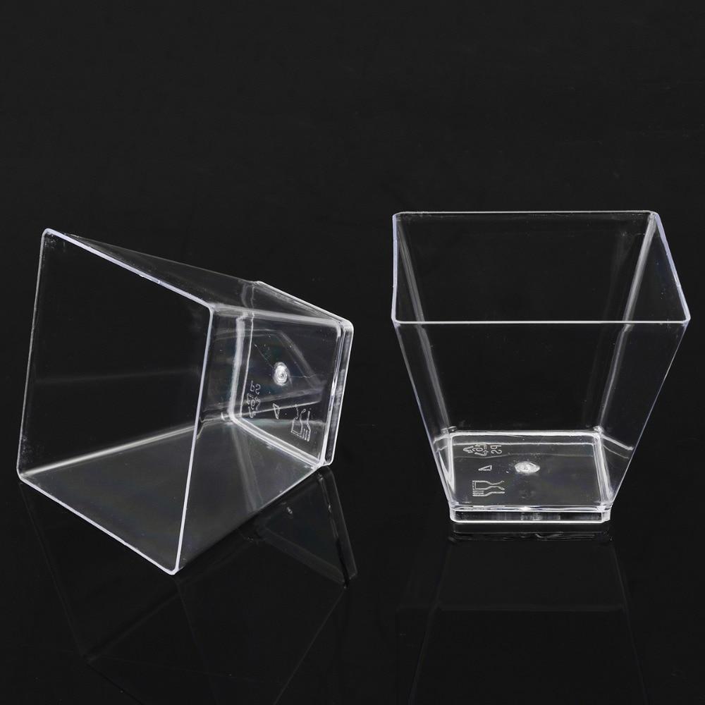 copo cubo plástico amostra prato bolo geléia