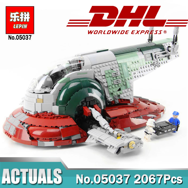 Lepin 05037 UCS Slave I Slave NO.1 Lepin 05039 Red Five X Starfighter Wing Bricks Toy Legoingly 10240 75060 Wars in Star Toys