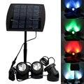 Качество 18 светодиодов на солнечных батареях 3 светодиодных светильника с датчиком света RGB подводный светильник прожектор для сада бассей...