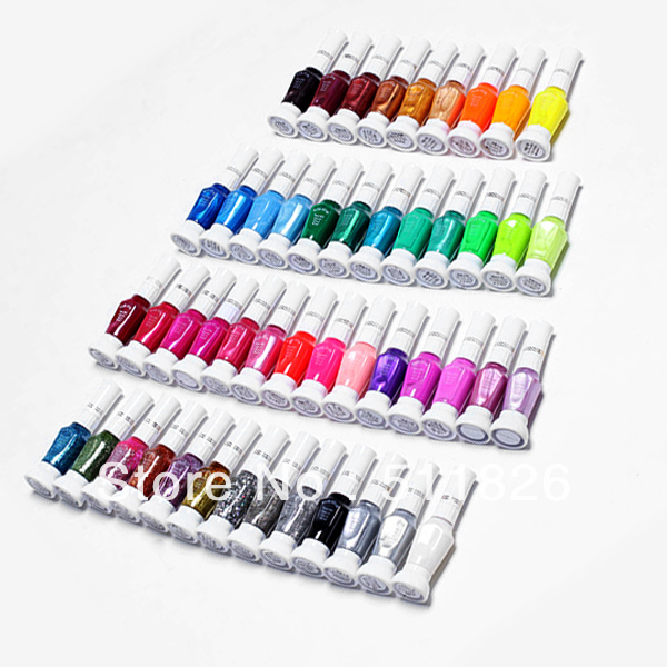 48 Colors 2-Way Nail Art Brush Pen Varnish Polish Free shipping  8406