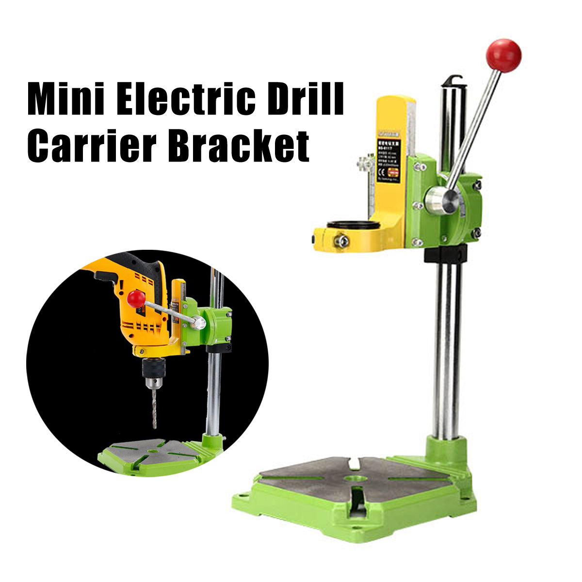 Mini Electric Drill Carrier Bracket 90 Degree Mini Electric Rotating Fixed Frame Bench Drill Stand Press Power Tool Accessories