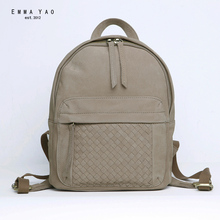 EMMA YAO women backpack  mini genuine leather bag Japanese style brand fashion backpack