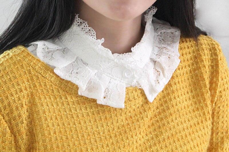 Tröja spets virkad falsk löstagbar Falskrava Kläder Accessoarer - Kläder tillbehör - Foto 2