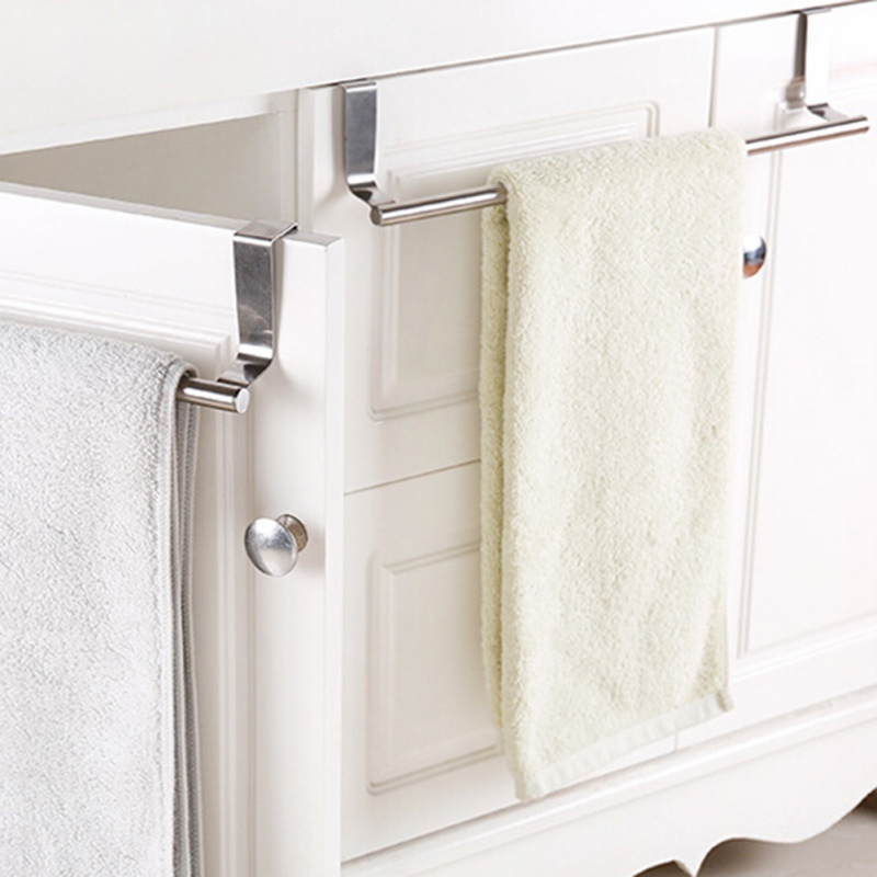 Drawer Hook Storage Scarf Hanger Cabinet Hanging Stainless Steel Towel Rack Bathroom Door Kitchen Towel Over Holder