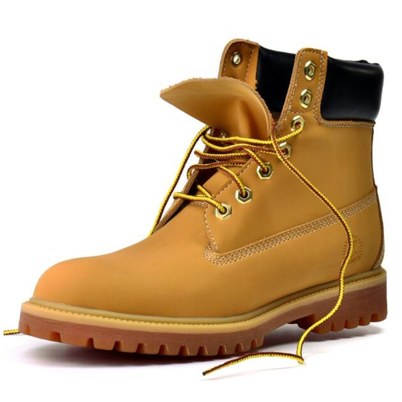 New Men s Boots Autumn and Winter High Fashion Vintage Boots Pure Color Round Tendon Soles