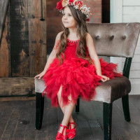 2019 Hot Strap Dress Baby Toddler Girl Black Swan Dress Elegant Princess Dresses Noble Diamond Feather Girls Dress 3 10Y GDR646