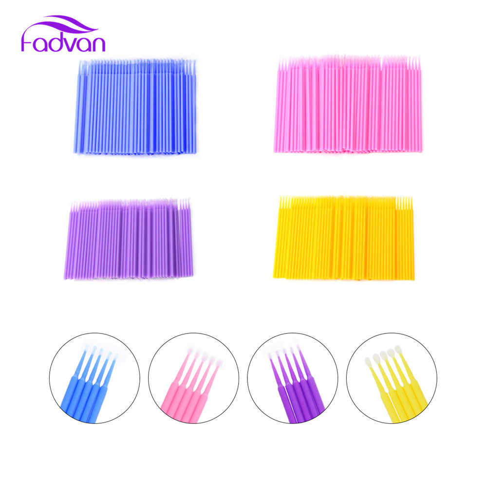383bc1e8364 ... 200pcs/set Eyelash Extension Glue Cleaning Brushes Makeup Tools Micro Swab  Lash Clean Applicators Mascara