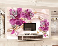 Beibehang Luxury Three Dimensional Floral Jewelry Background Luxury Adhesive Wallpaper 3d Wallpaper Vinyl Papel De Parede