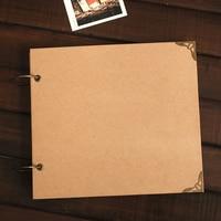 Blank Craft Cover Inside Ring Wire Binding Handmade DIY Album PP Bag Protective Film Baby Grow Photo Book Album Fotos Bebe