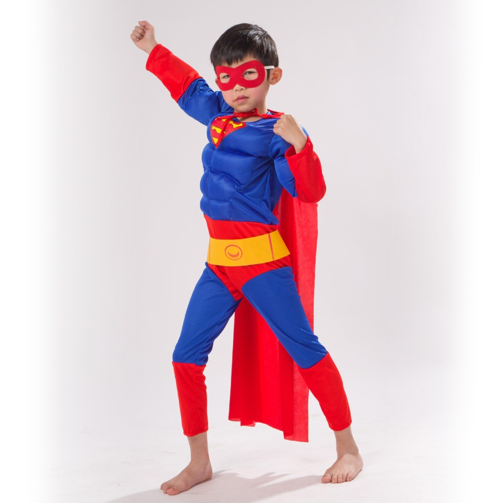 Children's Superman Cosplay Hero Anime Performance Series Fantasy Comic Movie Carnival Party Purim Halloween