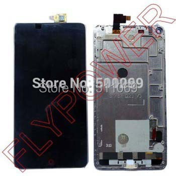 100% Warranty Black LCD Screen Display + Touch Digitizer +Frame For ZTE Nubia Z5s NX503A Assembly by free shipping