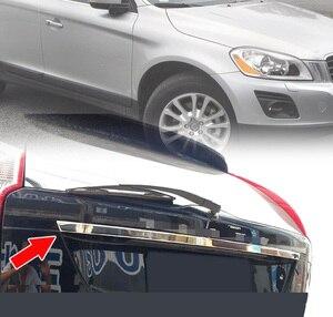Image 5 - AX для VOLVO XC60 2009 2014 литьевая дверь багажника Ручка полоса акцент гарнир стиль хром задний багажник задний ворот крышка отделка