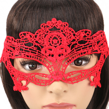 1Pcs Halloween Girls Women Black Red White Sexy Lady Lace Masks for Masquerade Party Fancy Dress Costume