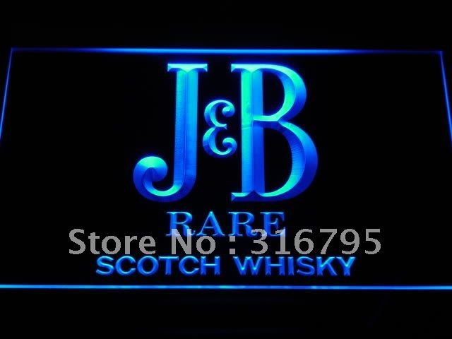 a187 J & B Rare Scotch Whisky LED Neon Light Sign On/Off Switch 20+ Colors 5 Sizes