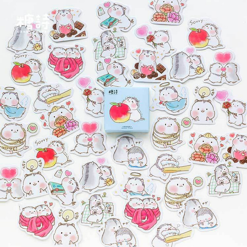 Pack of 45 Cute Bunny stickers for children/'s crafts cardmaking scrapbooking