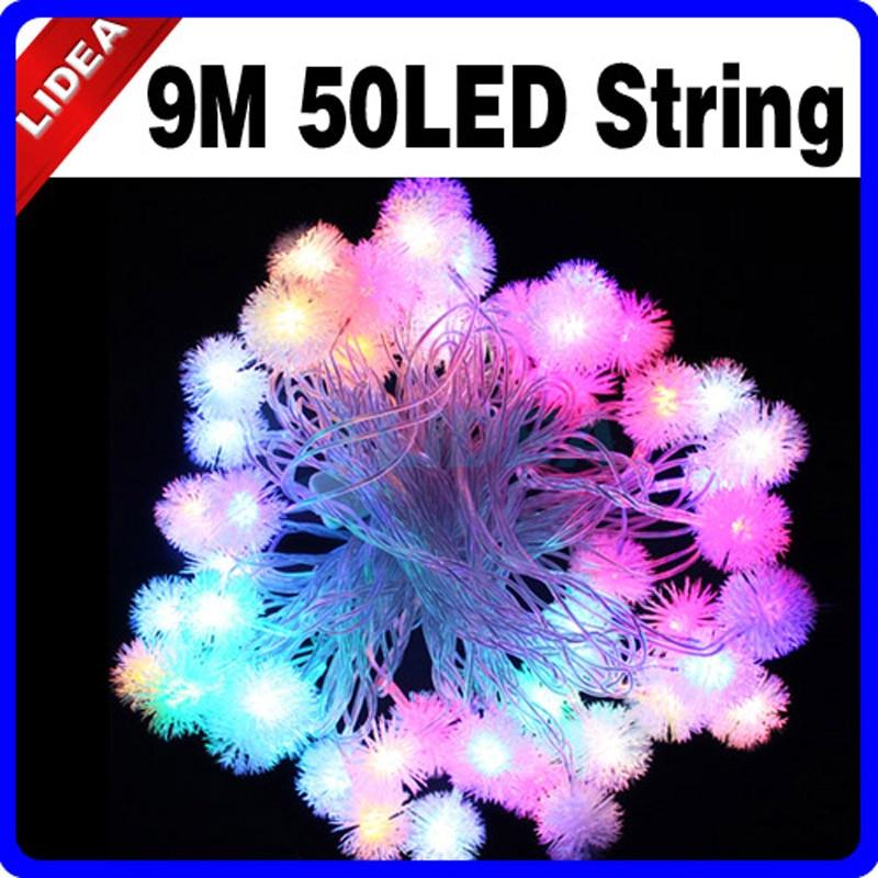 9M 50 LED Snowflake Garden Home Año Nuevo Navidad Guirnalda LED Decoración de Navidad Lámpara Exterior Fairy String Holiday Light HK C-06