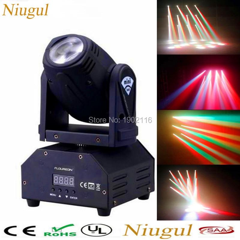 Niugul 10W RGBW LED Moving Head Beam Light/High Power Professional DMX stage effect lighting/Party KTV Disco DJ lights/LED Beam