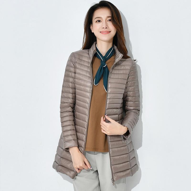 2018 Women Winter   Coats   Long Women white duck   Down     Coat   Ultra Light Weight Warm 90% Duck   Down     coat   Female Outerwear Parka QH0966