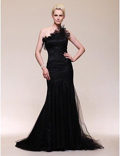 Vestidos De Festa Vestido Longo Para Casamento 2018 New Arrivals Women Gowns One Shoulder black Mermaid   bridesmaid     Dress