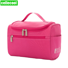 Cheap Women Bags Men Large Waterproof Nylon Travel Cosmetic Bag Organizer Case Necessaries Make Up Wash Toiletry Bag Makeup bag недорого