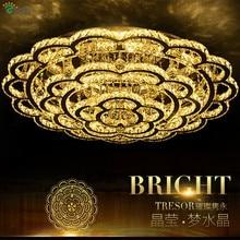 Современные сливы светодио дный светодиодные потолочные люстры лампа блеск кристалл хром металл спальня светодио дный LED люстра освещение светодио дный Dimmable светодиодные фонари