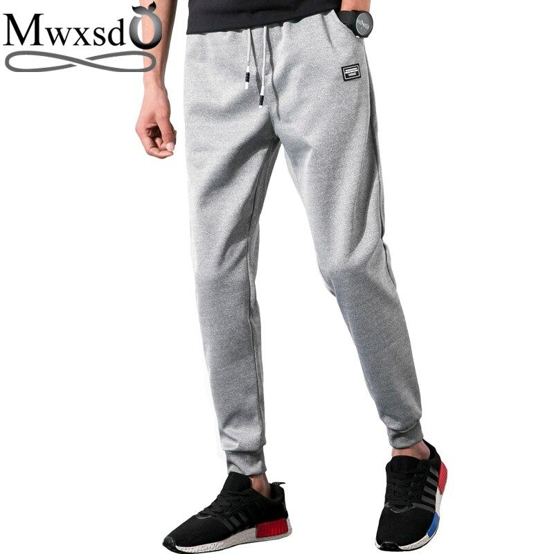 Mwxsd brand Men Casual cotton Joggers long sporting pants male pencil pants sweatpants Mens Clothing Size M-5xl