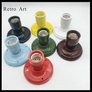 Image 3 - Prosty E27 E26 ceramiczny wisiorek kinkiet sufitowy porcelanowy wisiorek przewód do lampy zestaw