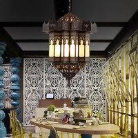 Арабский стиль Медь Пользовательские led e14 люстры лампа подвесная в ретро стиле для гостиной Ресторан отеля столовая