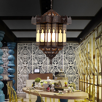 Арабский стиль Медь пользовательские светодио дный e14 люстры Ретро подвесной светильник для гостиной Ресторан отеля столовая