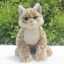 Stuffed Animal Cute Big Toy Lynx Doll Pillow  Baby  Plush Toys Early Education Props
