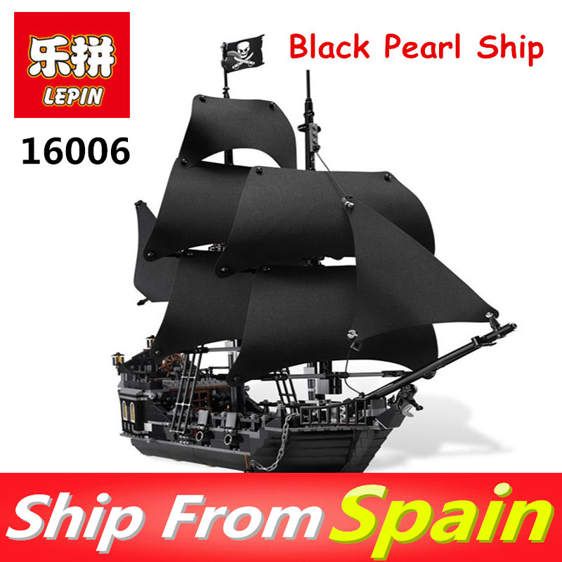 Lepin 16006 804PCS building bricks blocks Pirates of the Caribbean the Black Pearl Ship legoing 4184 toys for Children gift lepin 16006 16016 pirates of the caribbean 16009 queen anne s revenge legoinglys 70618 black pearl model building kits blocks