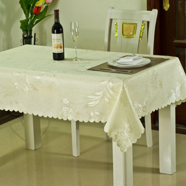 Kitchen Supplies Printing Tablecloth Table Linen Decoration Glitter  Polyester Table Cloth Sparkle Linen