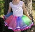 The Fashion Ribbon Bow Girls Tutu Skirt Short Baby Tutus Skirt For Girls Pettiskirt Girl Skirt 2t-8t Various Colors