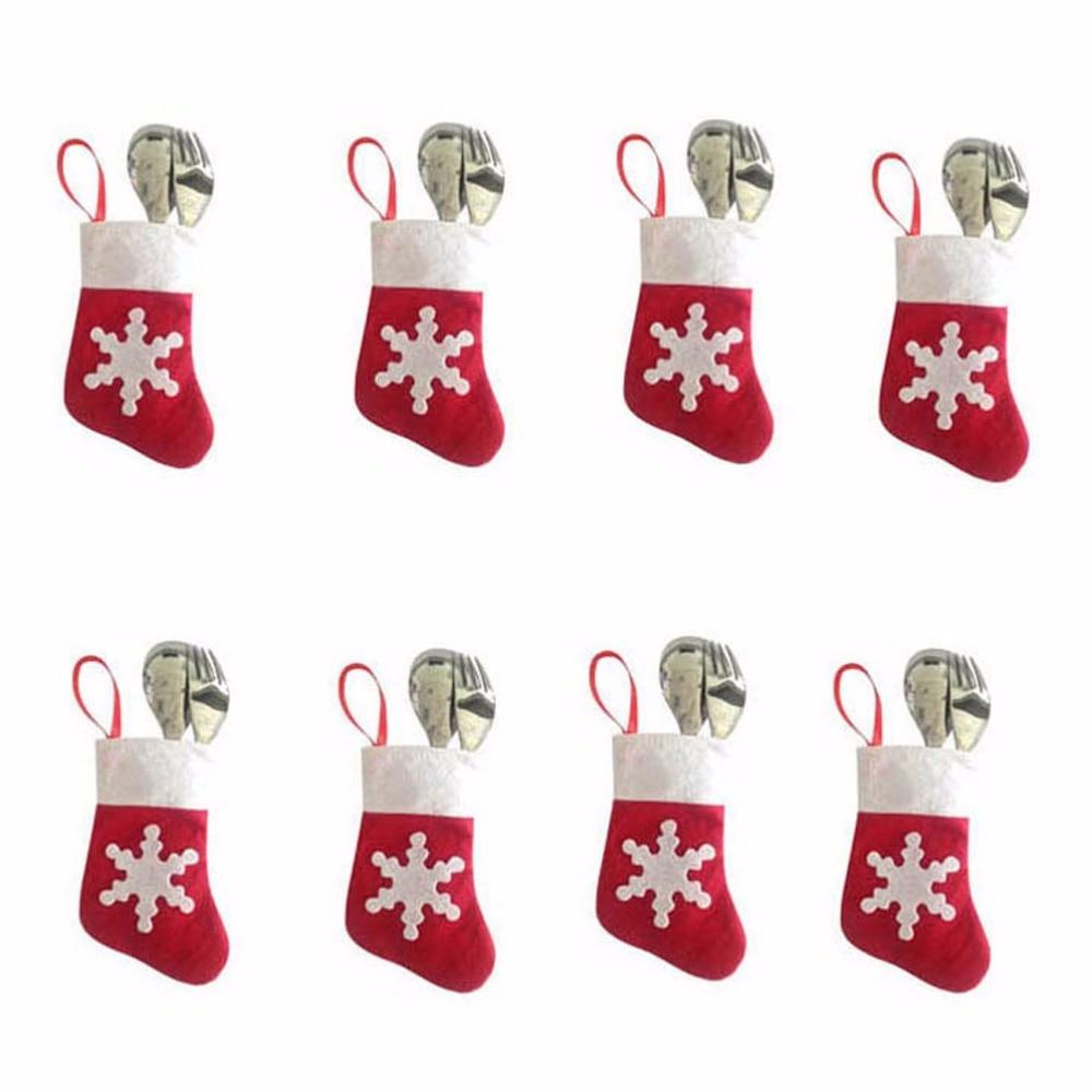 ᐊ12 Pieces / Lot Christmas Tree Decor Mini Christmas Stockings and ...