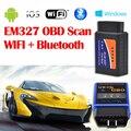 Veículo Ferramenta de Diagnóstico OBD2 OBD ELM 327 Bluetooth WI-FI-IIAuto Carro Ferramenta de Diagnóstico Interface Funciona Scanner Na Android IOS