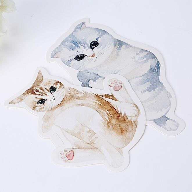 30 Pcs/lot Cute Novelty Heteromorphism Cat Postcard Greeting Card Christmas Card Birthday Card Gift Crds