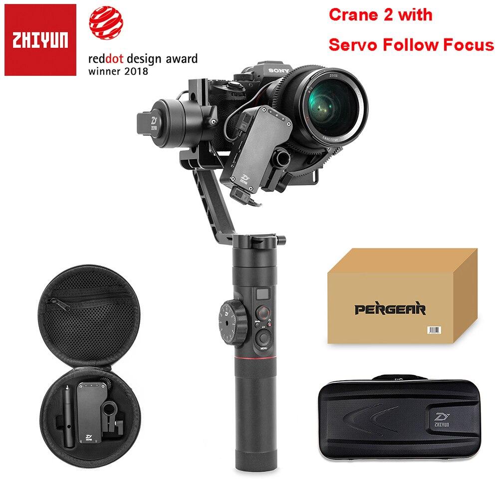 Zhiyun Grue 2 3-axe Brushless Poignée Cardan Stabilisateur avec Follow Focus À Distance pour Sony Caméra Charge 3.2Kg ÉCRAN OLED