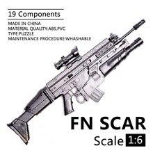 1:6 1/6ขนาด12นิ้วตัวเลขการกระทำปืนไรเฟิลFN SCARชุดของเล่นปืนใช้สำหรับ1/100 MG Bandai Gundam soldier Parts & Components