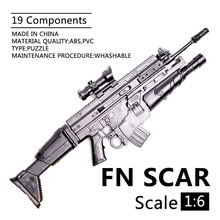 1:6 1/6 Scale 12 inch Action Figures Rifle FN SCAR Model Gun Toy Use For 1/100 MG Bandai Gundam Soldier Parts & Components