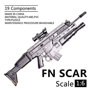1:6 1/6 Scale 12 inch Action Figures Rifle FN SCAR Model Gun Toy Use For 1/100 MG Bandai Gundam Model Soldier Parts & Components [show z store] 3r mg 1 100 gat x103 buster gundam ally frame upgrade kits action figure