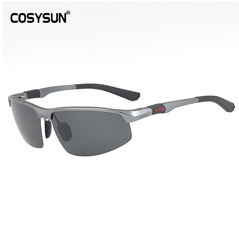 COSYSUN Aluminum Brand New Polarized Sunglasses Men Fashion Sun Glasses Travel Driving Male Eyewear Oculos Gafas De So CS121