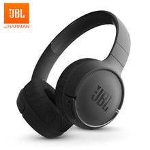 Jbl t500bt sem fio bluetooth fone de ouvido graves profundos som esportes jogo fone com cancelamento ruído microfone dobrável fones de ouvido original