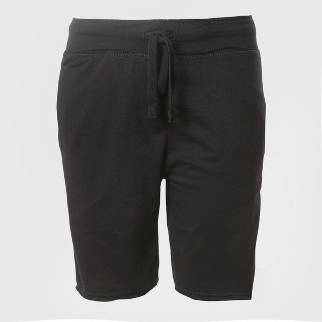 Summer Shorts Men Casual Mens Shorts Male Shorts Men Knee Length Terry Male Slim Solid Fabric Black