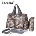 Insular Новый дизайн 6 цветов детские сумка для мамы Марка детские пеленки сумка сумки сумка для пеленания bolsa maternidade подарок