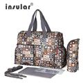 Insular nuevo diseño 6 colores del bolso del bebé para la mamá de la marca pañal del bebé bolsa de viaje bolsos bolso cambiador bolsa maternidade regalo