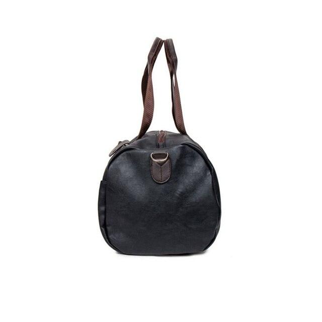 MAGIC UNION Weekender Oil Wax Leather Handbags for Men Travel Duffel Bag Portable Shoulder Bags Men's Fashion Carry On Bag 4