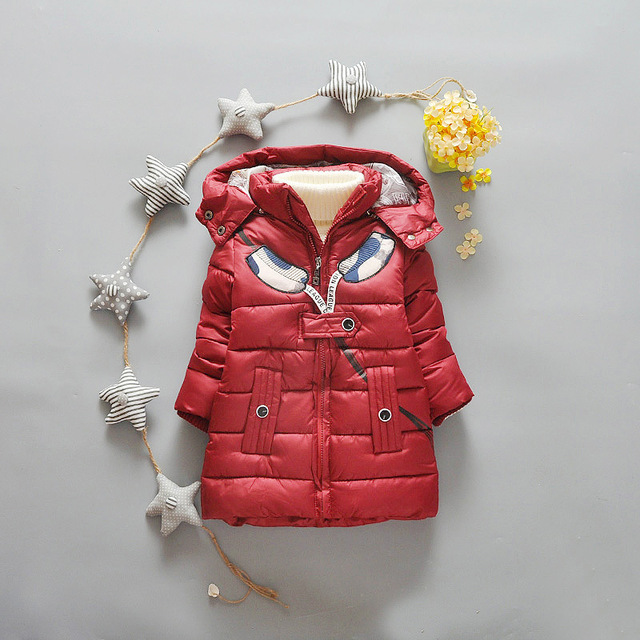 Kids Winter Coat Children Boys Clothes Red Black Khaki Toddler Infant Boys Thick Warm Jackets For Age 4-7T Spring and Autumn